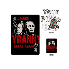 Make Tyranny Great Again Playing Cards 54 (mini)  by Valentinaart