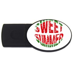 Watermelon   Sweet Summer Usb Flash Drive Oval (4 Gb) by Valentinaart