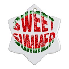 Watermelon   Sweet Summer Ornament (snowflake)
