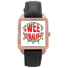 Watermelon   Sweet Summer Rose Gold Leather Watch