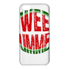Watermelon   Sweet Summer Apple Iphone 5c Hardshell Case