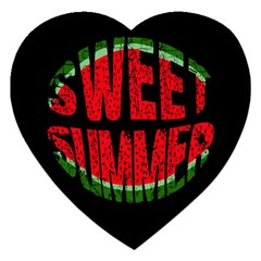 Watermelon   Sweet Summer Jigsaw Puzzle (heart) by Valentinaart