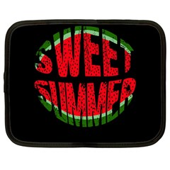 Watermelon   Sweet Summer Netbook Case (large)