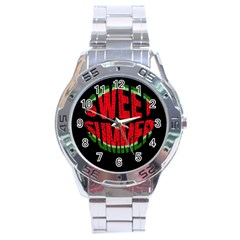 Watermelon   Sweet Summer Stainless Steel Analogue Watch by Valentinaart
