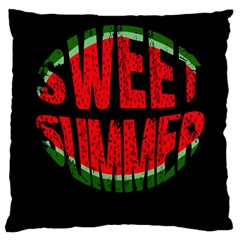 Watermelon   Sweet Summer Large Cushion Case (two Sides)