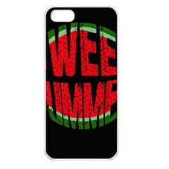 Watermelon   Sweet Summer Apple Iphone 5 Seamless Case (white) by Valentinaart