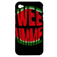 Watermelon   Sweet Summer Apple Iphone 4/4s Hardshell Case (pc+silicone)
