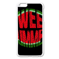 Watermelon   Sweet Summer Apple Iphone 6 Plus/6s Plus Enamel White Case