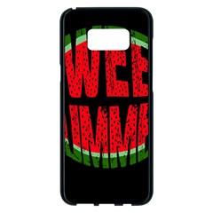 Watermelon   Sweet Summer Samsung Galaxy S8 Plus Black Seamless Case