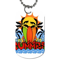 Tropical Summer Dog Tag (two Sides)