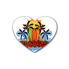 Tropical Summer Heart Coaster (4 Pack)