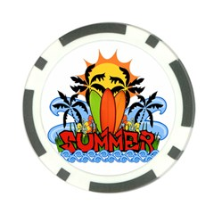 Tropical Summer Poker Chip Card Guard by Valentinaart