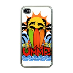 Tropical Summer Apple Iphone 4 Case (clear) by Valentinaart