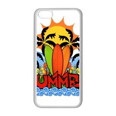 Tropical Summer Apple Iphone 5c Seamless Case (white)