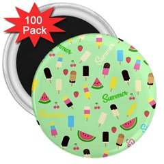 Summer Pattern 3  Magnets (100 Pack) by Valentinaart