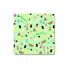Summer Pattern Square Magnet by Valentinaart