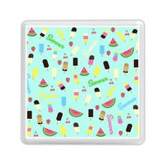 Summer Pattern Memory Card Reader (square)  by Valentinaart