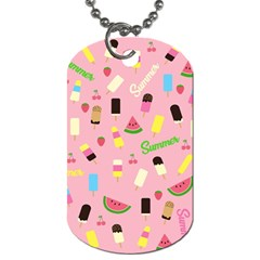 Summer Pattern Dog Tag (two Sides)
