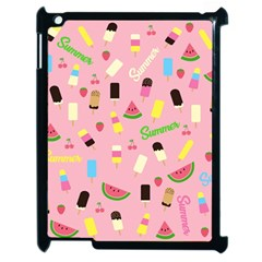 Summer Pattern Apple Ipad 2 Case (black) by Valentinaart