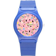 Summer Pattern Round Plastic Sport Watch (s)