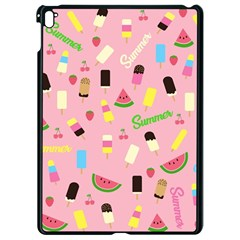 Summer Pattern Apple Ipad Pro 9 7   Black Seamless Case by Valentinaart