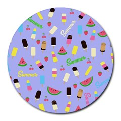 Summer Pattern Round Mousepads by Valentinaart