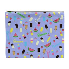 Summer Pattern Cosmetic Bag (xl)