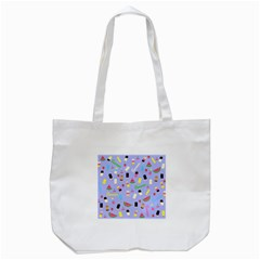 Summer Pattern Tote Bag (white) by Valentinaart