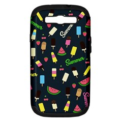 Summer Pattern Samsung Galaxy S Iii Hardshell Case (pc+silicone) by Valentinaart