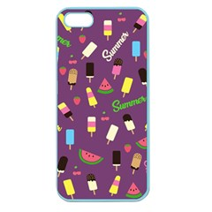 Summer Pattern Apple Seamless Iphone 5 Case (color) by Valentinaart