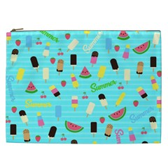 Summer Pattern Cosmetic Bag (xxl)  by Valentinaart