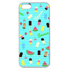 Summer Pattern Apple Seamless Iphone 5 Case (clear) by Valentinaart
