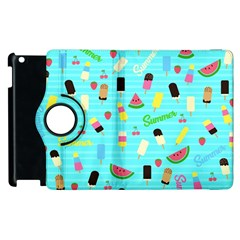 Summer Pattern Apple Ipad 2 Flip 360 Case
