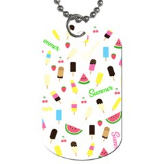 Summer Pattern Dog Tag (one Side) by Valentinaart