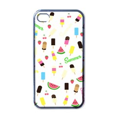 Summer Pattern Apple Iphone 4 Case (black) by Valentinaart