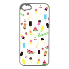 Summer Pattern Apple Iphone 5 Case (silver)