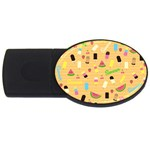 Summer pattern USB Flash Drive Oval (4 GB) Front