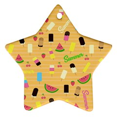 Summer Pattern Star Ornament (two Sides) by Valentinaart