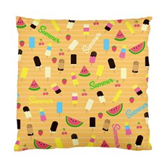 Summer Pattern Standard Cushion Case (two Sides) by Valentinaart