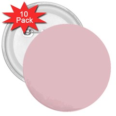Blush Pink 3  Buttons (10 Pack)  by SimplyColor