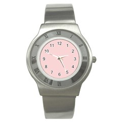 Blush Pink Stainless Steel Watch by SimplyColor