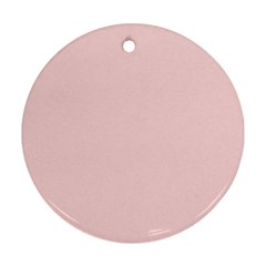 Blush Pink Round Ornament (two Sides) by SimplyColor