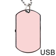 Blush Pink Dog Tag Usb Flash (two Sides) by SimplyColor