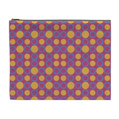 Colorful Geometric Polka Print Cosmetic Bag (xl) by dflcprints