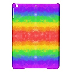 Striped Painted Rainbow Ipad Air Hardshell Cases by Brini