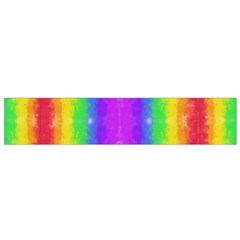 Striped Painted Rainbow Flano Scarf (small) by Brini