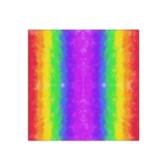 Striped Painted Rainbow Satin Bandana Scarf by Brini