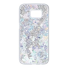 Chaos W2 Samsung Galaxy S7 Edge White Seamless Case by MoreColorsinLife