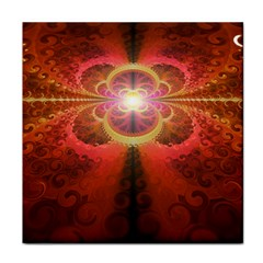 Liquid Sunset, A Beautiful Fractal Burst Of Fiery Colors Tile Coasters
