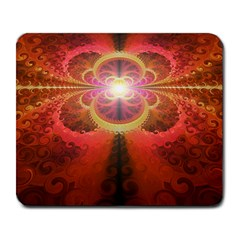 Liquid Sunset, A Beautiful Fractal Burst Of Fiery Colors Large Mousepads
